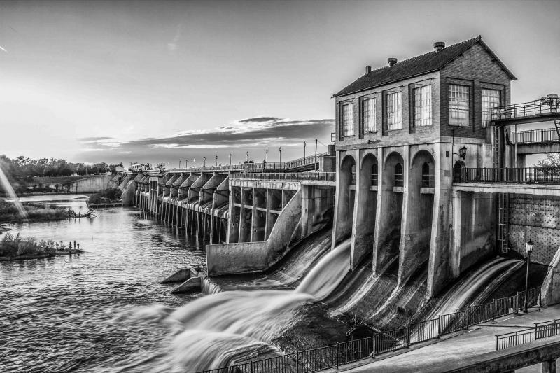 6 46 pm Lake Overholser Dam