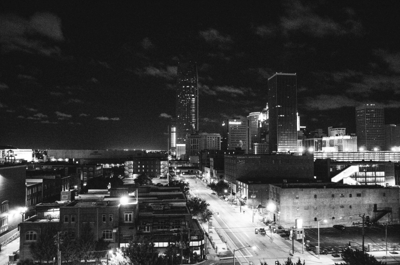 9. The Okie City in its sleepless night
