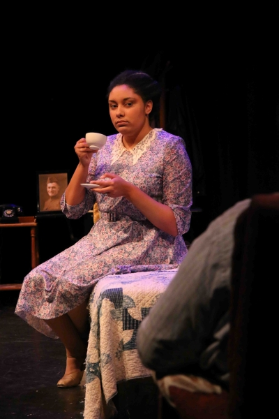 Kat Adams sips on her drink. Photo by Rahul Chakraborty