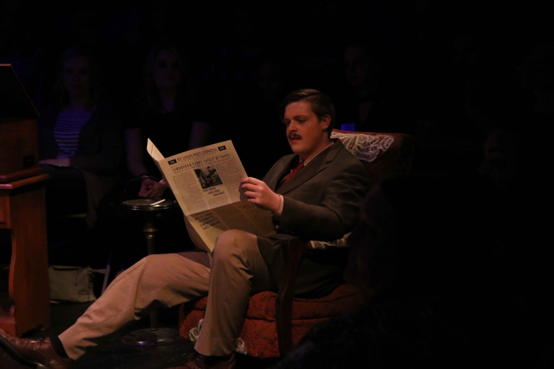 Austin Peden playing Jim O'Conner. Photo by Rahul Chakraborty