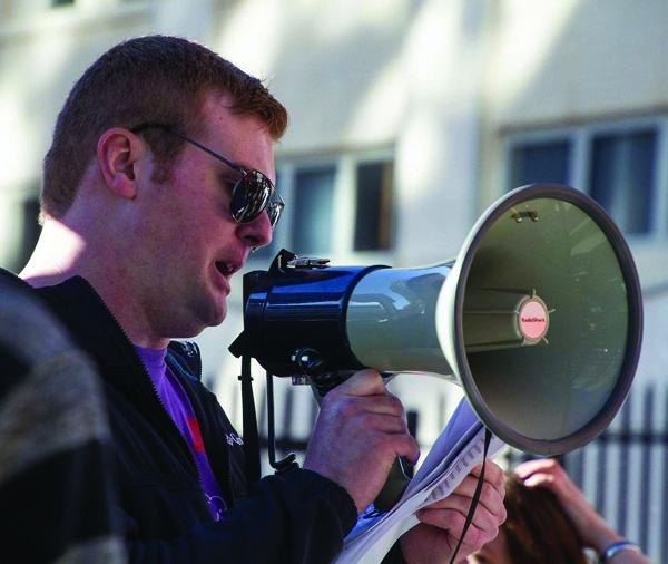 2017 protest okc megaphone