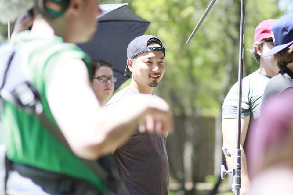 Shingo during the filming of \'Frackers\'