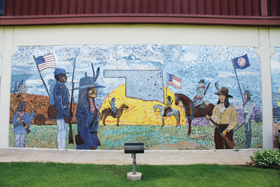 Mural depicts monumental battle of Honey Springs