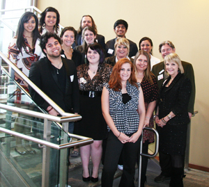 Broadcasting students attend awards banquet