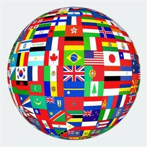 Campus flags represent different cultures