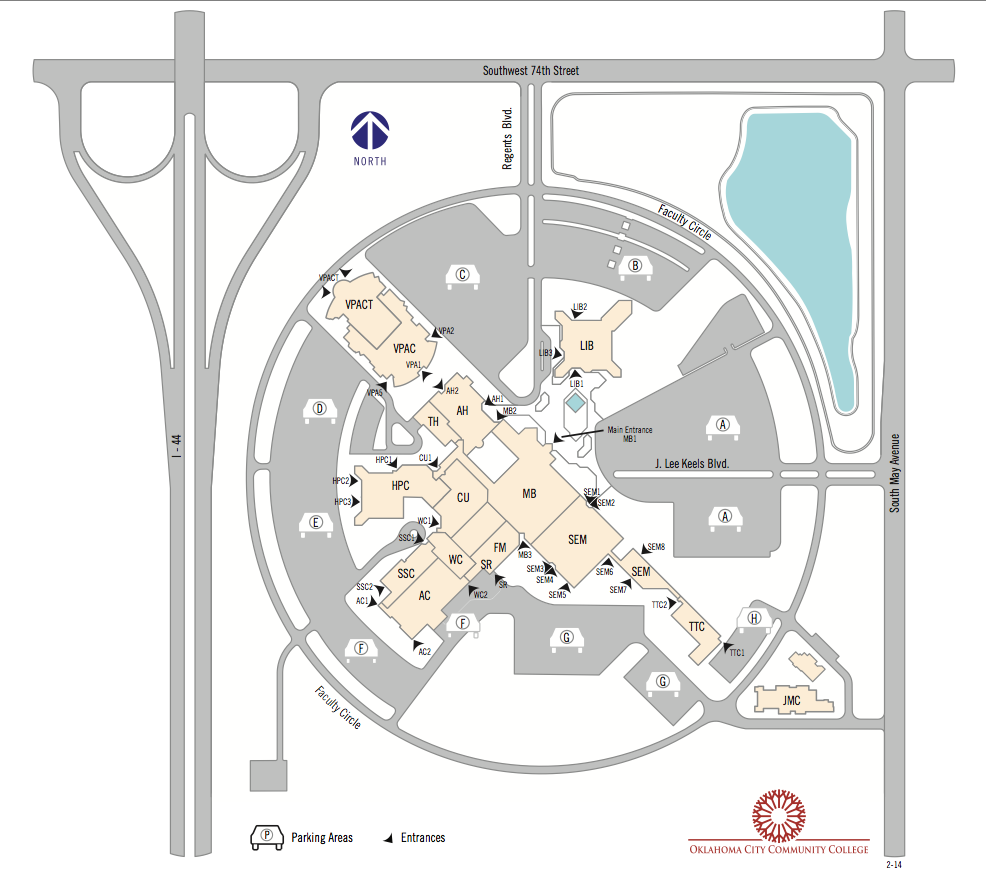 occc parking map 2014