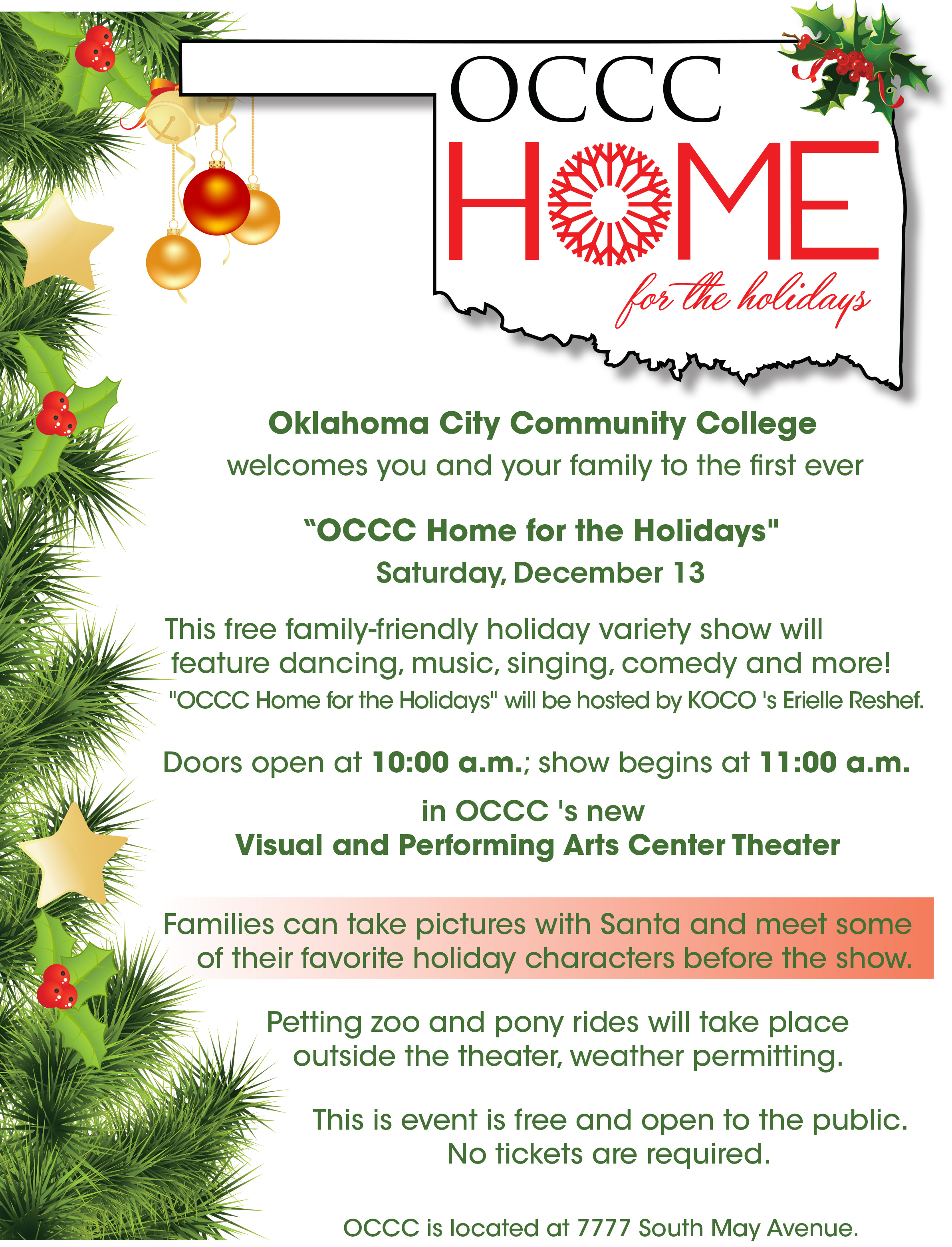 Family-friendly holiday show scheduled for Dec. 13