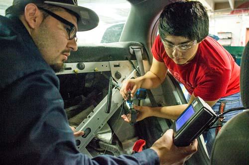 Automotive majors Jesus Cerda and Danny Colmenarez