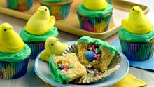 Cupcakes with Peeps better than April Fool's prank