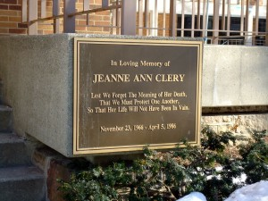 Jeanne Ann Clery monument
