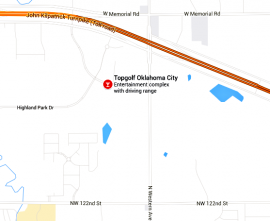 Topgolf location map