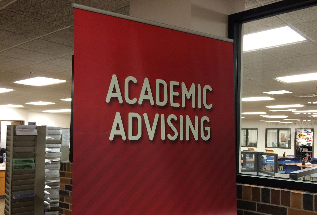 Academic Advising sign
