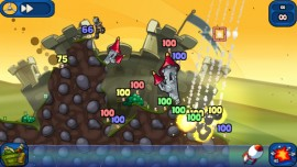 Worms 2 game play screenshot
