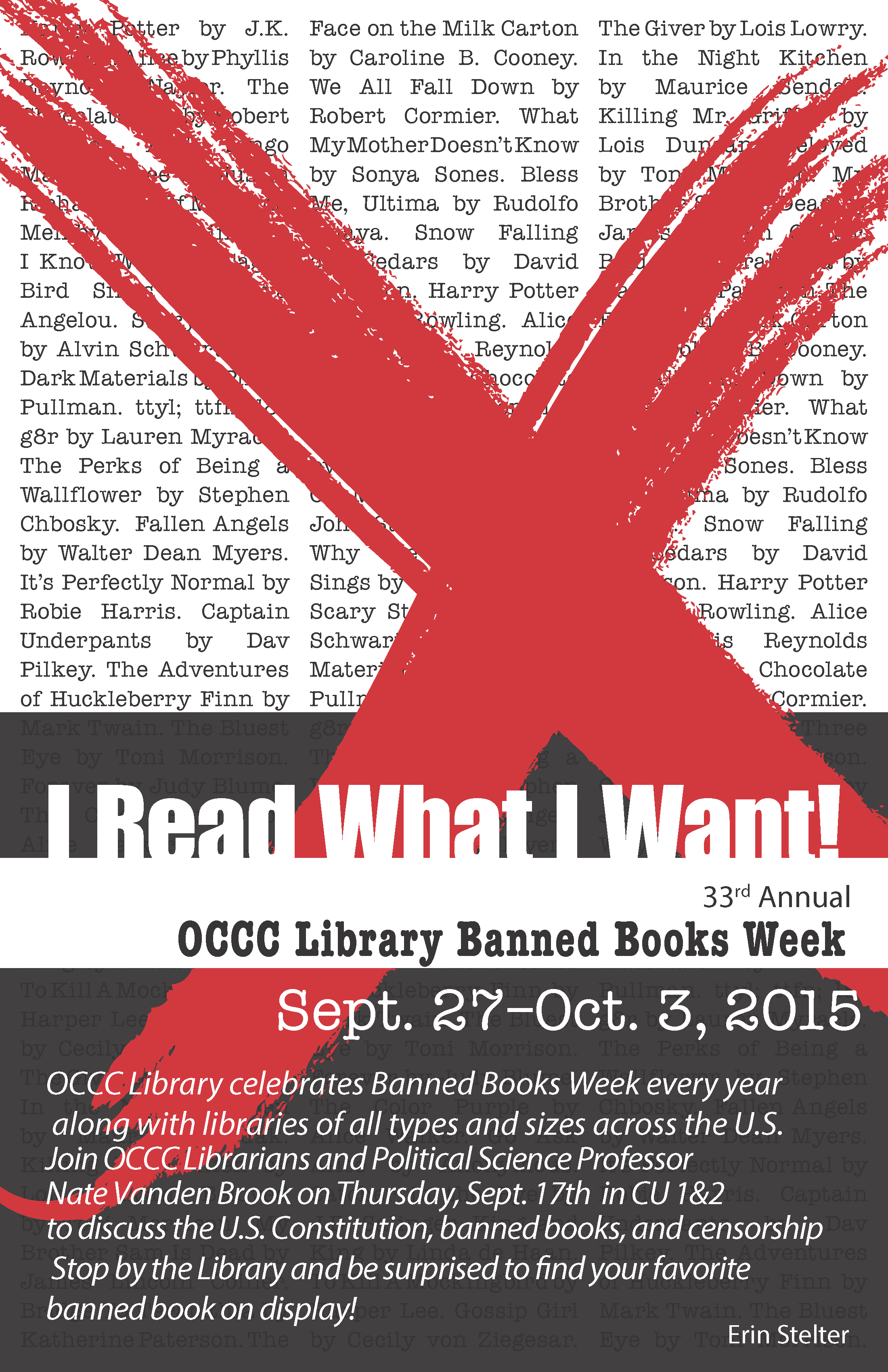 Erin Stelter Banned Book Week 2015