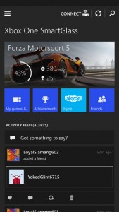 xbox one smart glass screen shot