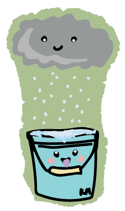happy rain bucket