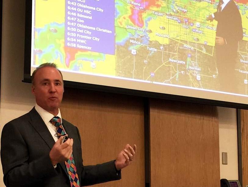 Stormchaser meteorologist back at OCCC
