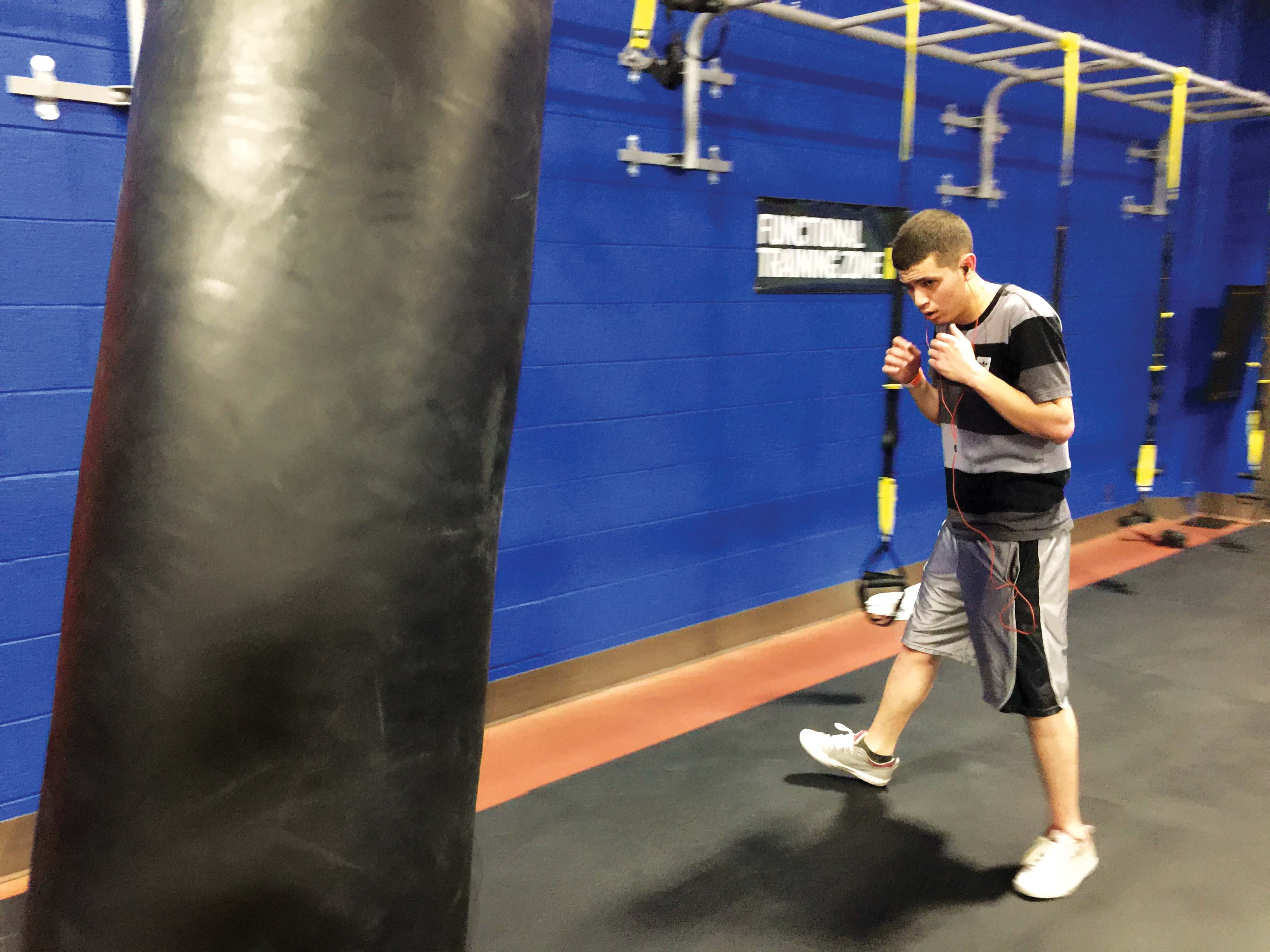 Kickboxing, a fast cardio workout