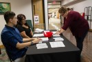 Voter Registration table will be set up in the general dining area to take in new voters before the upcoming elections. Photo by Aaron Cardenas/Pioneer