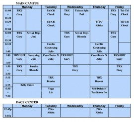 fitness-schedule adjusted
