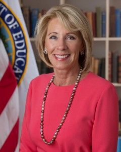 Federal Education Secretary Betsy DeVos. Photo provided by whitehouse.gov