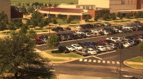 OCCC's Campus parking lot is full following the first week of school. Photo by Brandon King