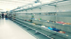 Wal-Mart shelves empty in Jacksonville, Florida. Photo provided by Rhonda Melher