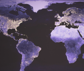 The world view from space. Photo by Canva.