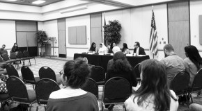 DACA panelists meet for excel series hosted by student life. Photo by Savannah Melher