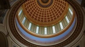 Dome of the Oklahoma Capitol. Photo by Cici Simon.