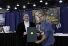 Jason Mewes receiving citation of appreciation from representative. Photo by Sean Stanley