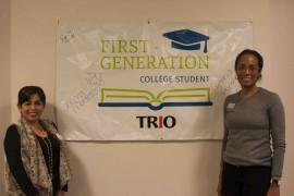 (Left) TRIO advisor Monica Suyo and Director of TRIO Grant Programs Lathonya Shivers (right).