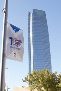 Thunder flag downtown