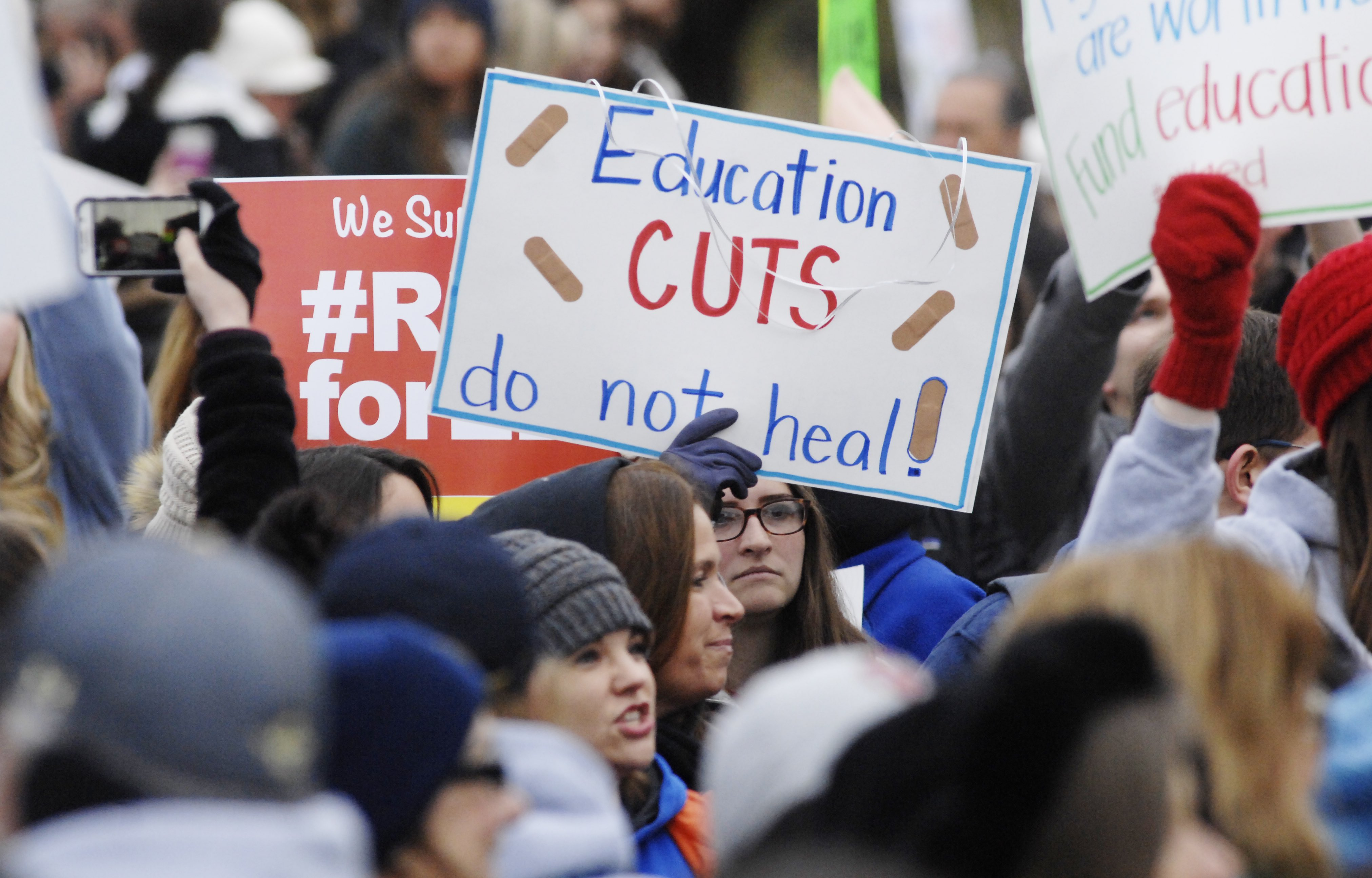Teachers Push for Increase in Education Funding