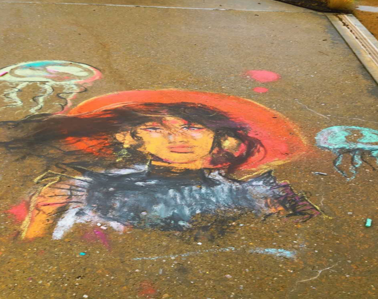 Students chalk-it-up to a good time in campus contest