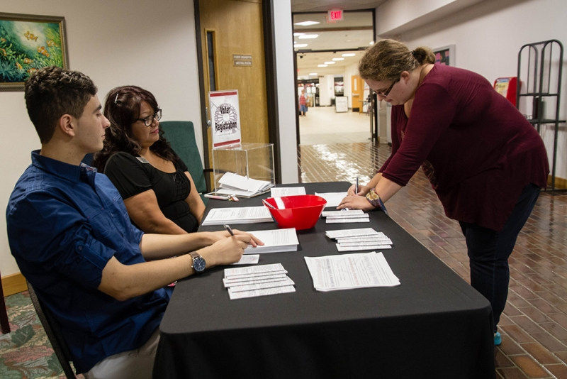 Voter registration on campus