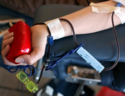 Blood drive held on campus today