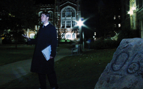 Adjunct professor tells ghost tales