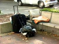 College student joins growing homeless list
