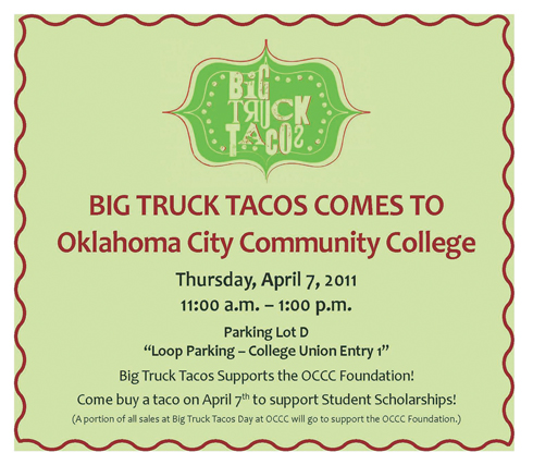 OCCC serves tacos with side of scholarships