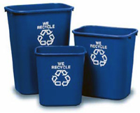 Recycling bins cover campus