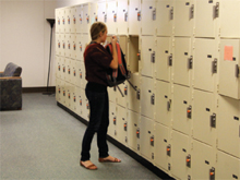 Testing Center receives new lockers