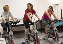 Spinning class great for all levels