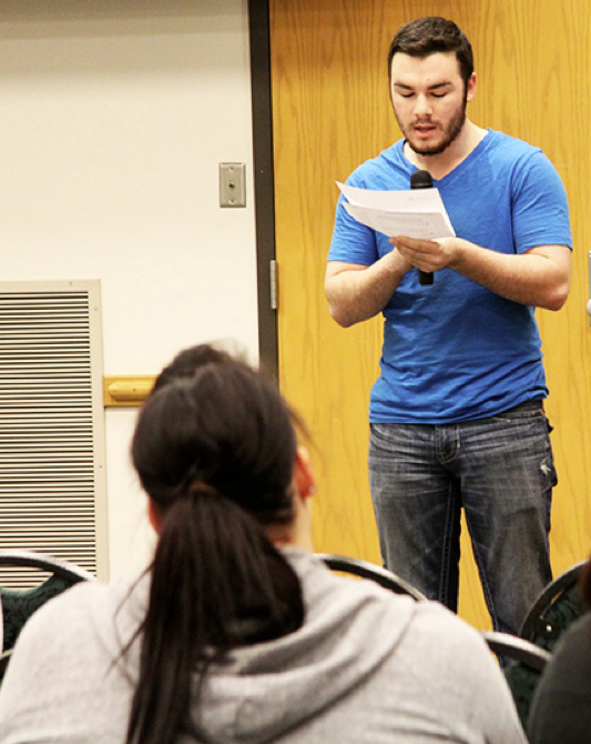 Students express themselves at open mic session
