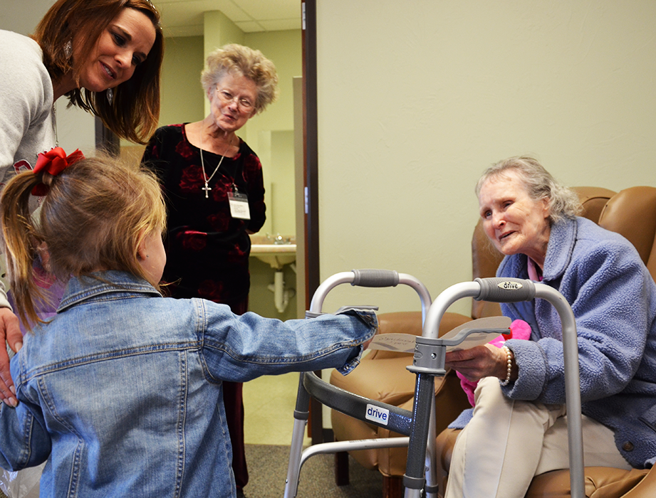 Children bring Valentine joy to an older generation