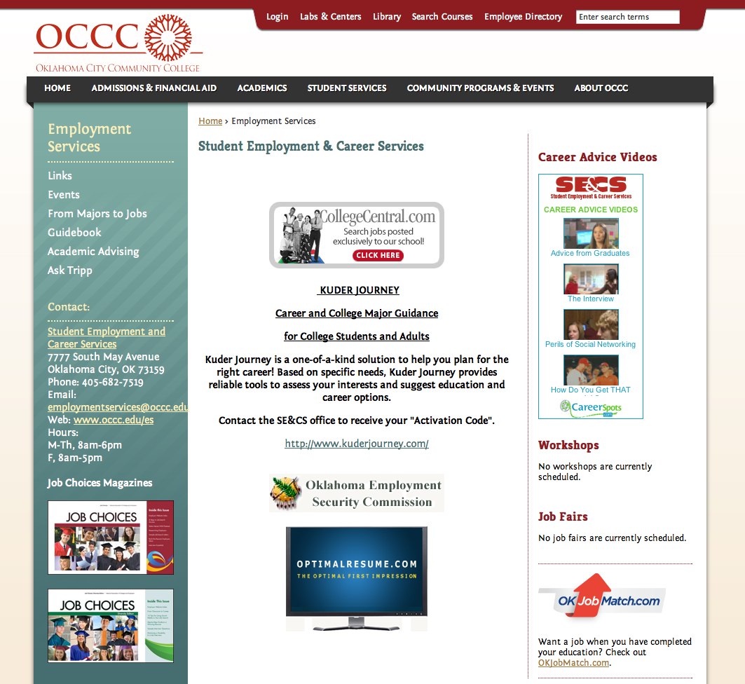 OCCC offers ways to help with job searches