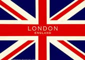 British Flag with London England
