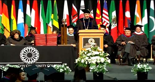 President Sechrist sends grads off with advice