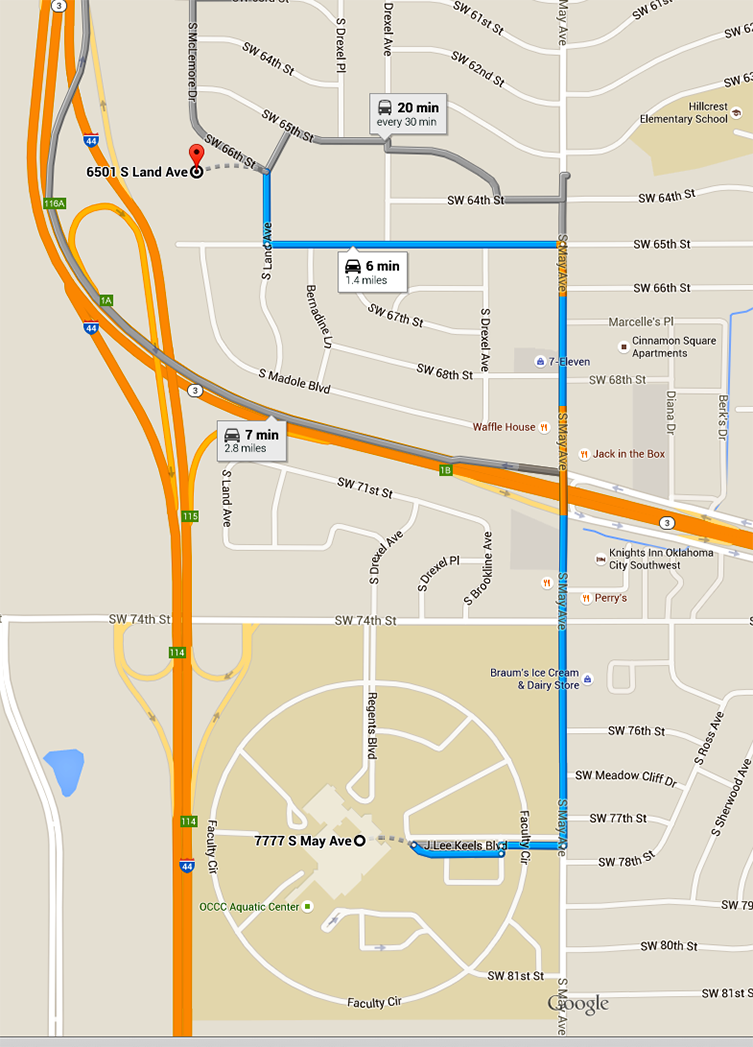 Geographic Information System map of OCCC