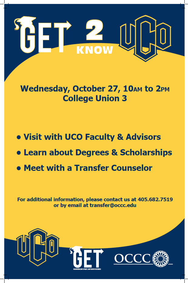 GET 2 know UCO poster